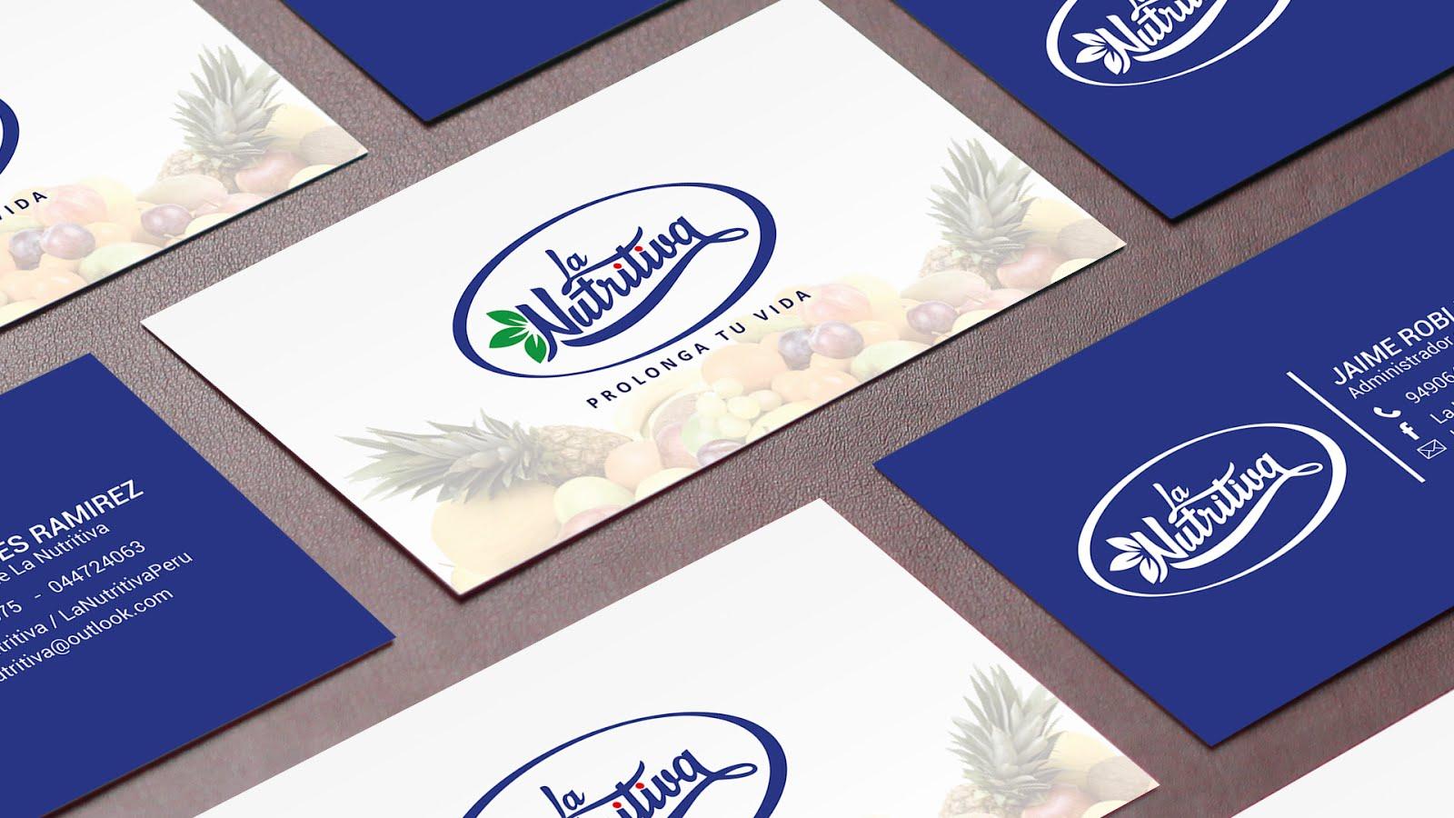 Tarjetas Personales La Nutritiva