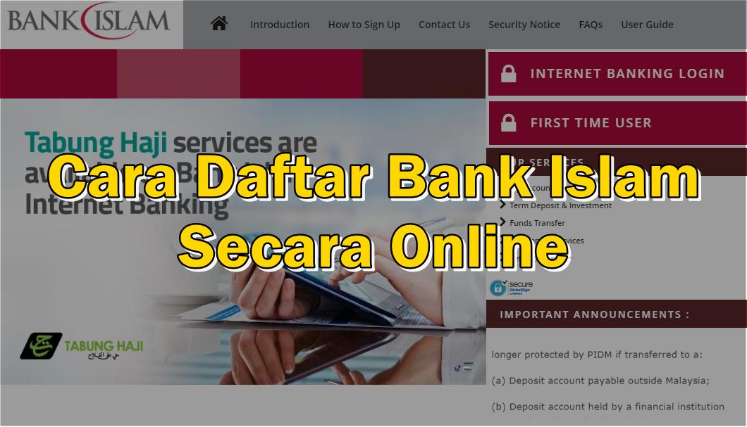 Cara Daftar Bank Islam Secara Online Sii Nurul Sii Nurul Menulis Untuk Berkongsi
