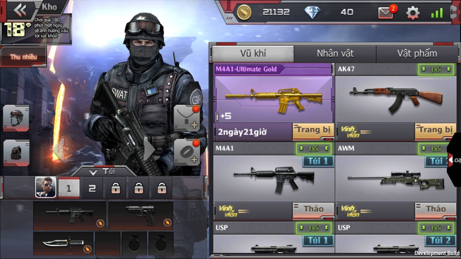 Hình ảnh khocfmobile in Hack shop Crossfire legends cho android