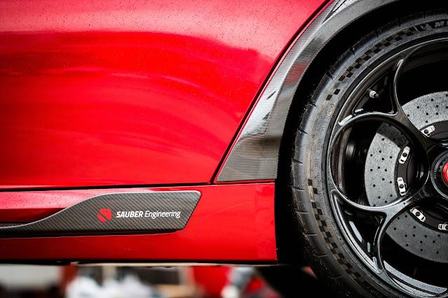 Alfa Romeo Giulia GTAm is special guest of Kimi Räikkönen and Antonio Giovinazzi at Imola Grand Prix