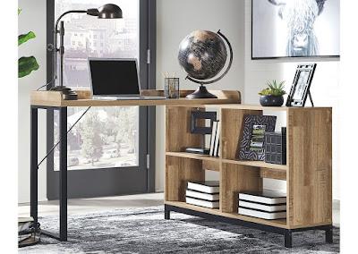 home office desk and shelves