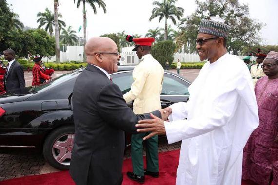 president jacob Zuma visits Nigeria