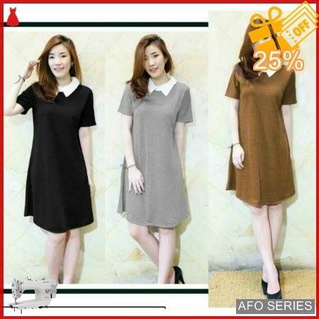 AFO074 Model Fashion Nek Dres Modis Murah BMGShop