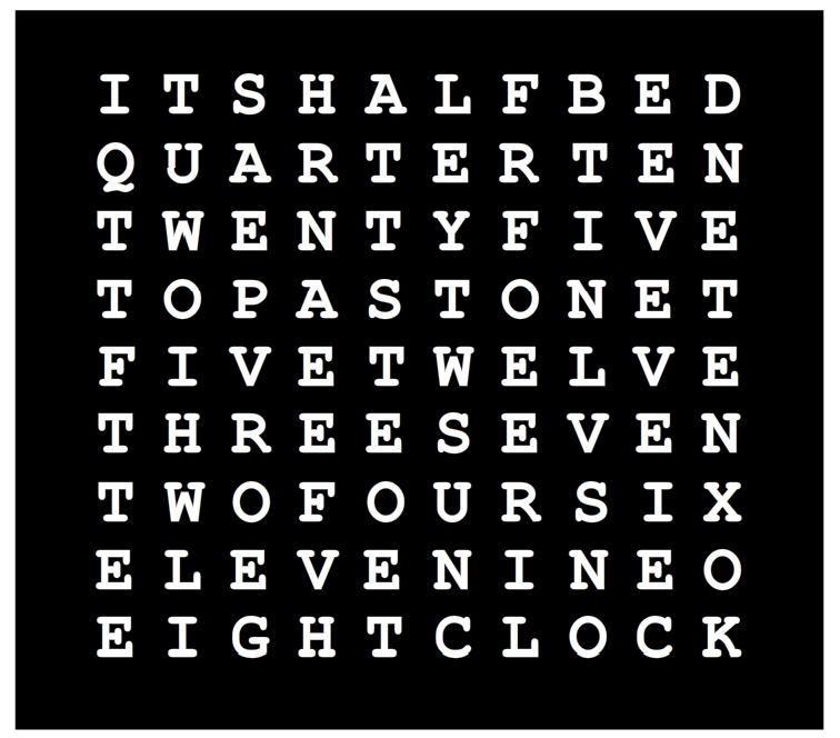 Cnc Machine Tutorial Word Clock