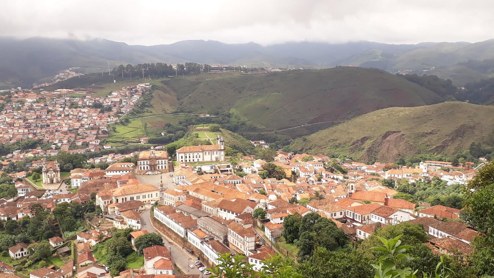 Vista para a cidade de Ouro Preto a partir do Mirante do Morro de São Sebastião