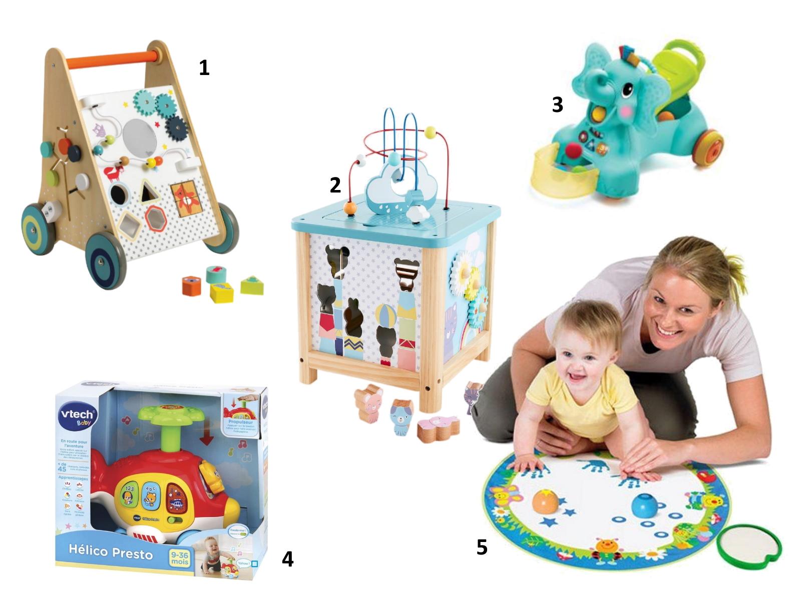idées cadeaux sélection enfant bébé noel 6 à 12 mois jouets éveil petit prix vertbaudet