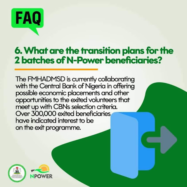 """Alt: = """"photo of Npower post on Exited beneficiaries on CBN loans"""""""
