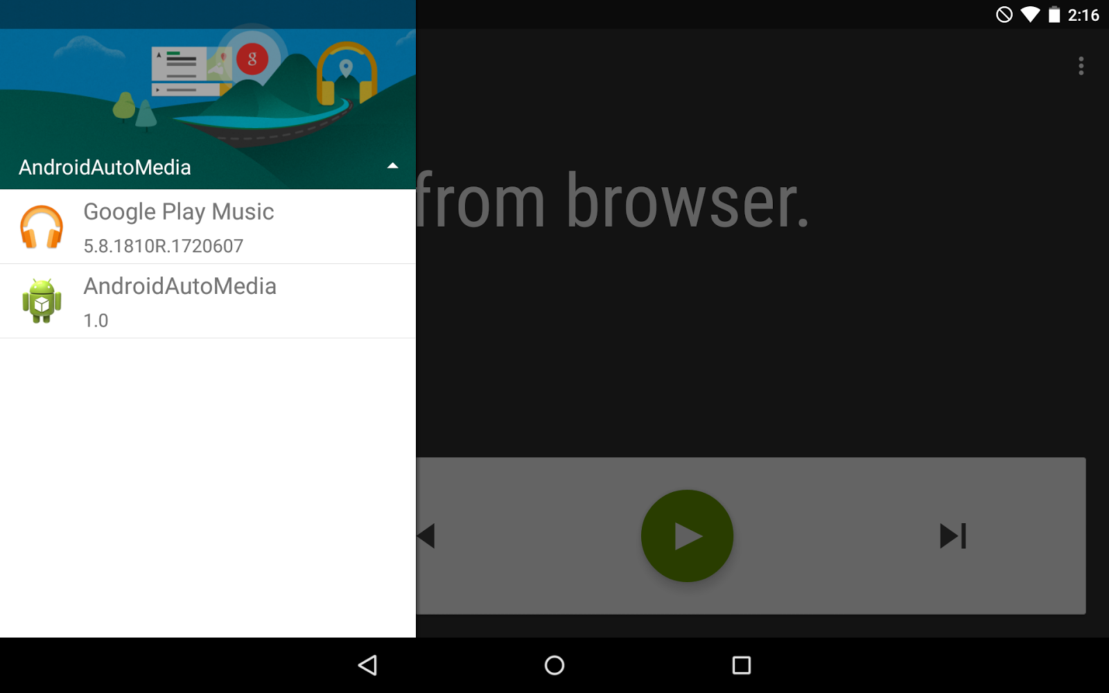 PTR Android/Programming Blog: Using the Android Auto Media