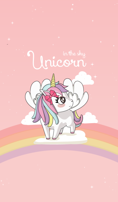 Unicorn in The sky-pink