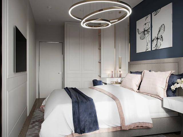 Thiết kế và thi công hoàn thiện nội thất căn hộ chung cư Eco Green Sài Gòn - Phòng Master