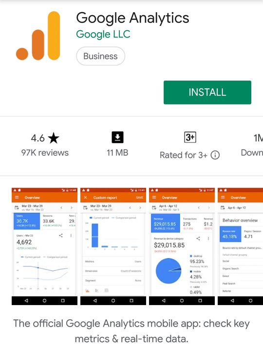Download Google Analytics Android App