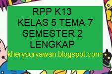 Rpp 1 Halaman Kelas 5 Tema 7 Lengkap Semester 2 Revisi Terbaru Kherysuryawan Id