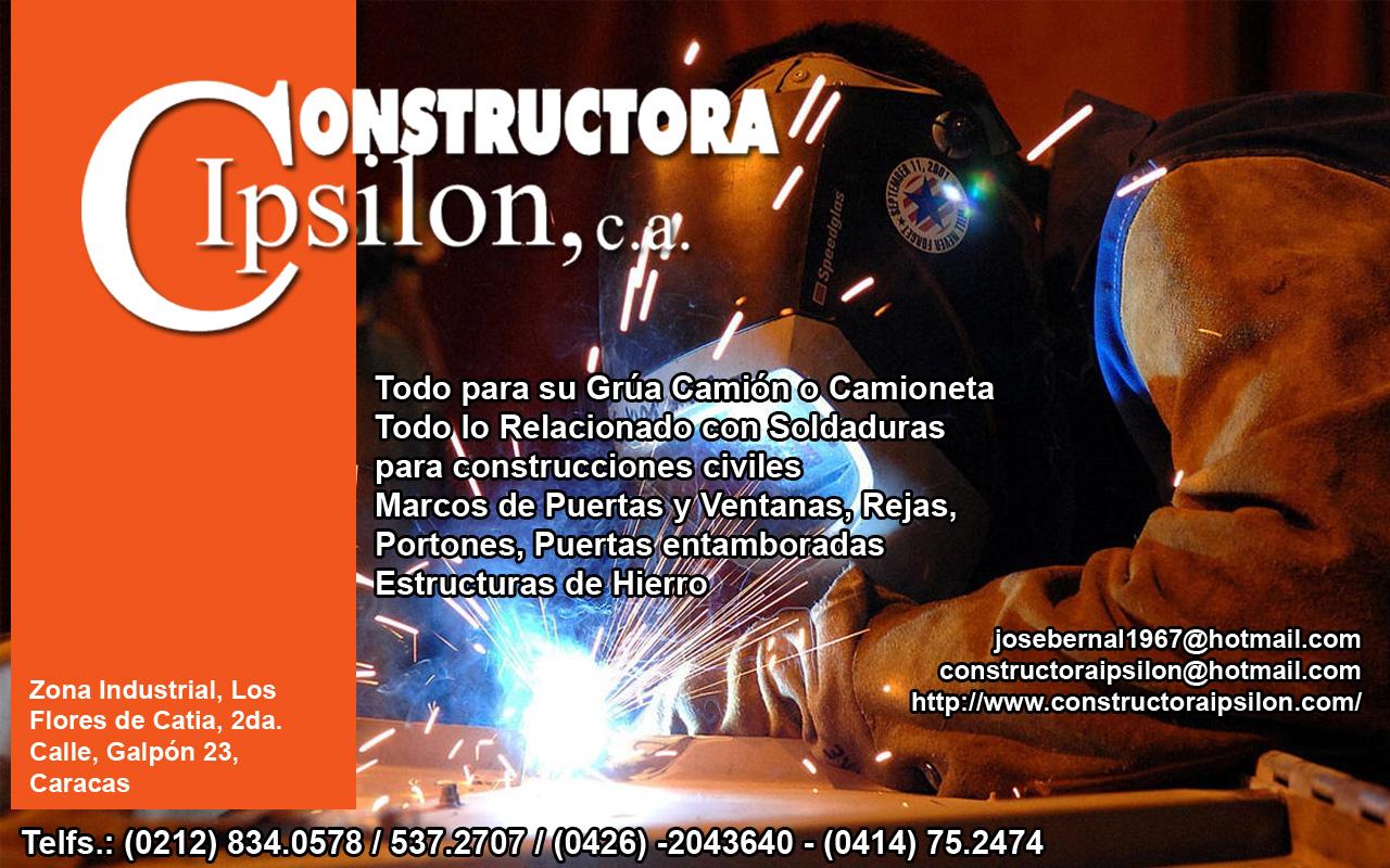 CONSTRUCTORA IPSILON, C.A. en Paginas Amarillas tu guia Comercial