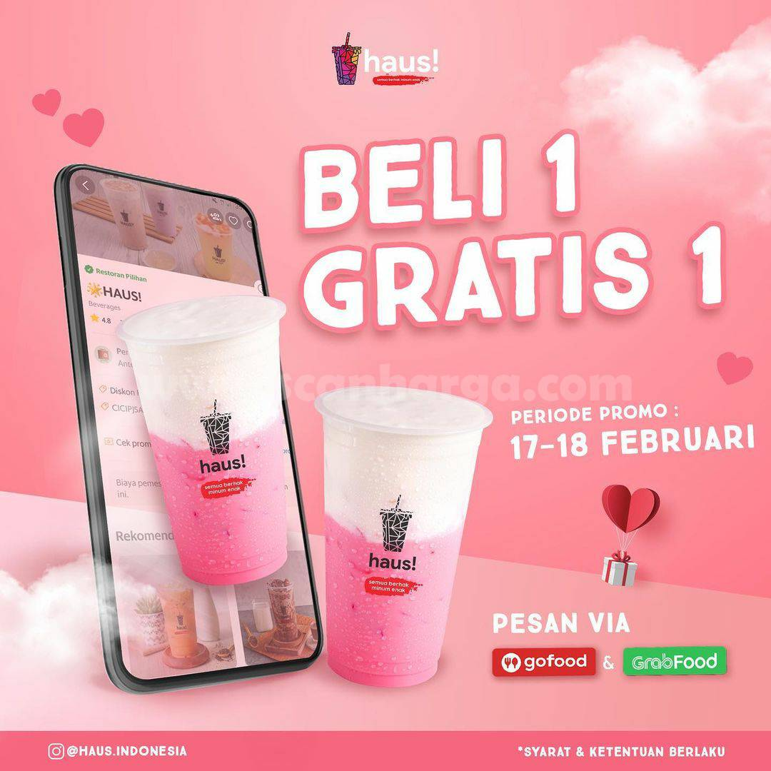 HAUS Cotton Candy Menu Baru! Promo Beli 1 Gratis 1