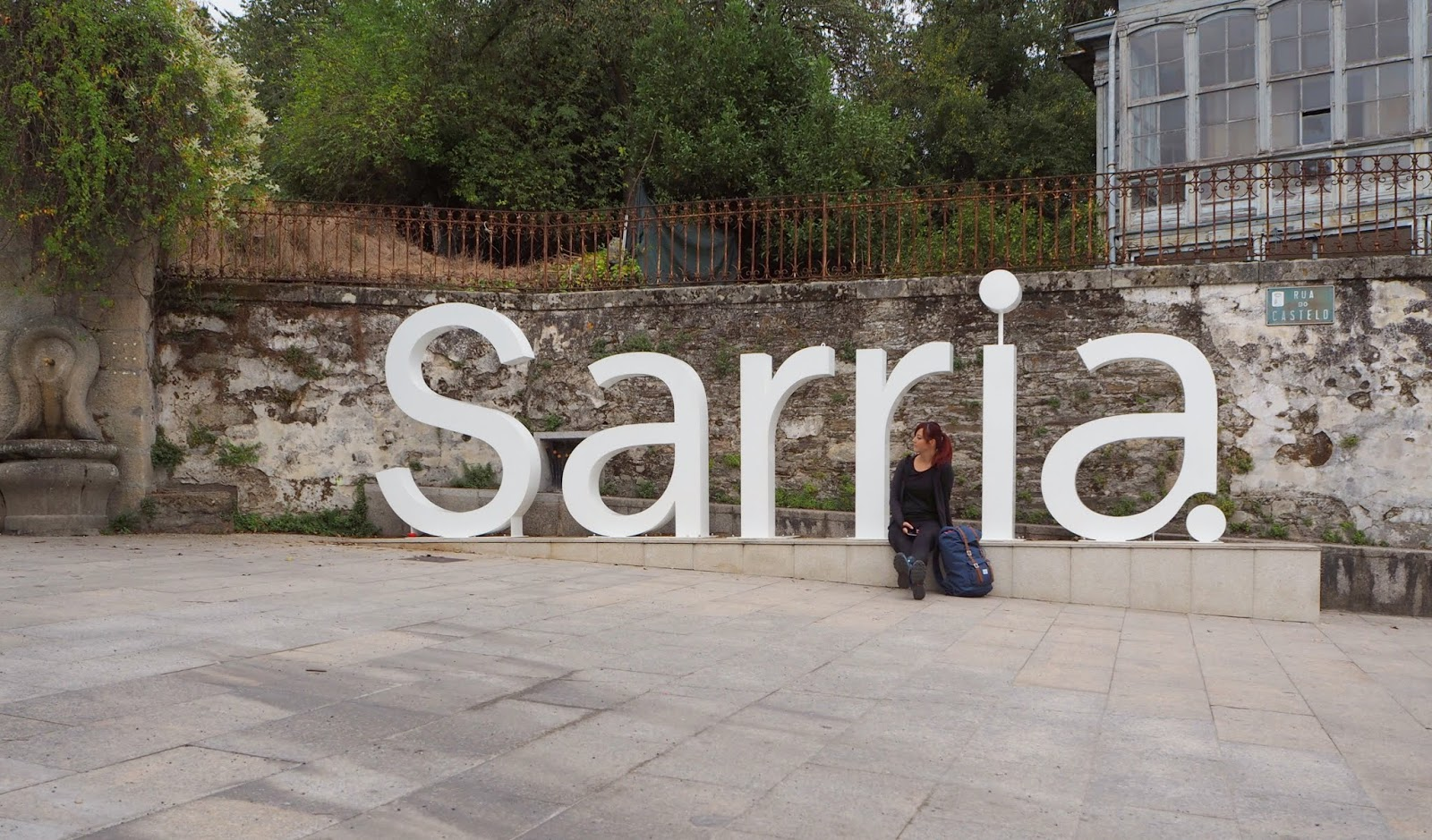 sarria welcome sign on the camino