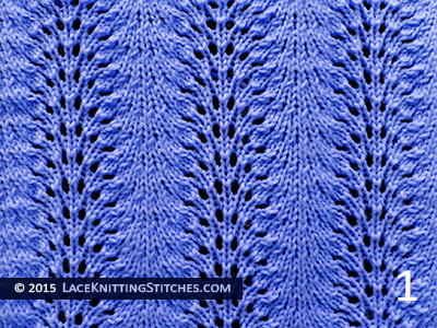 Lace Knitting. #9 Old Shale aka Feather and Fan - Pattern 1
