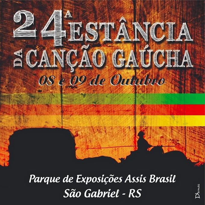 Estão abertas as inscrições para a 24ª Estância da Canção Gaúcha de São Gabriel