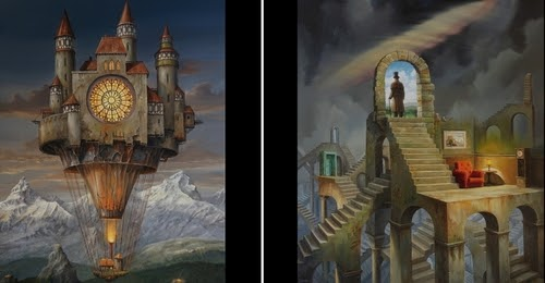 00-Jarosław-Jaśnikowski-Paintings-of-Flying-Machines-and-Architectural-Surrealism-www-designstack-co