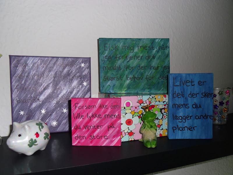 små malerier med citater Mariehønen   Natasia: Nye billeder små malerier med citater