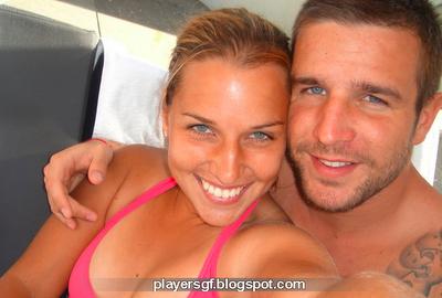 Dominika Cibulková with her boyfriend Miso Navara
