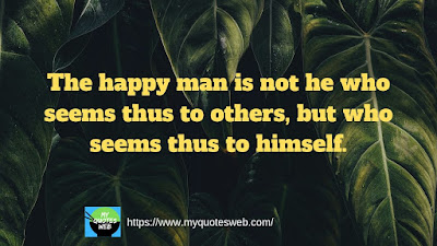 The happy man | Best health quote
