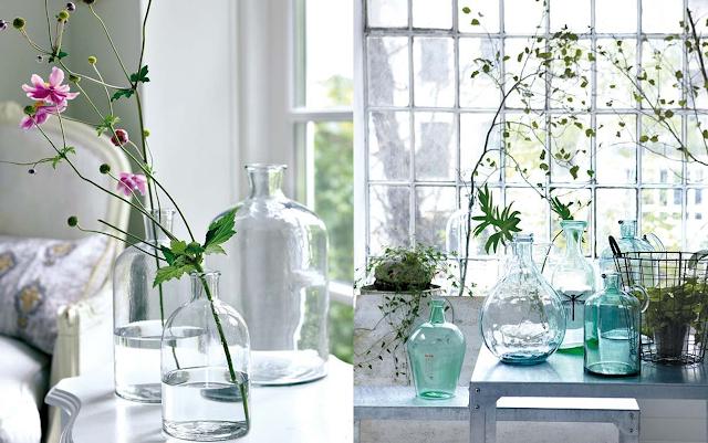Ideas para decorar con botellas de vidrio by artesydisenos blogspot