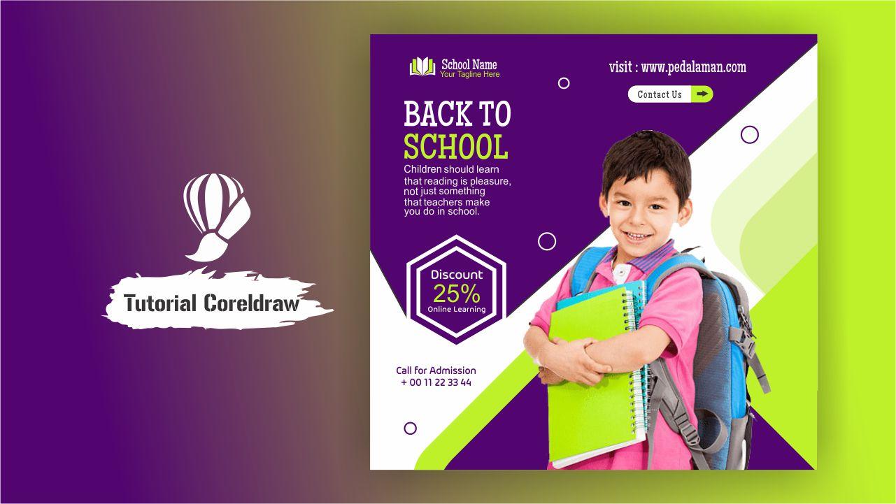 Membuat Flyer Promosi Pendidikan Anak di CorelDraw
