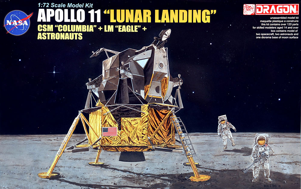 Scale Model News: UNBOXING THE DRAGON 1:72 SCALE APOLLO 11