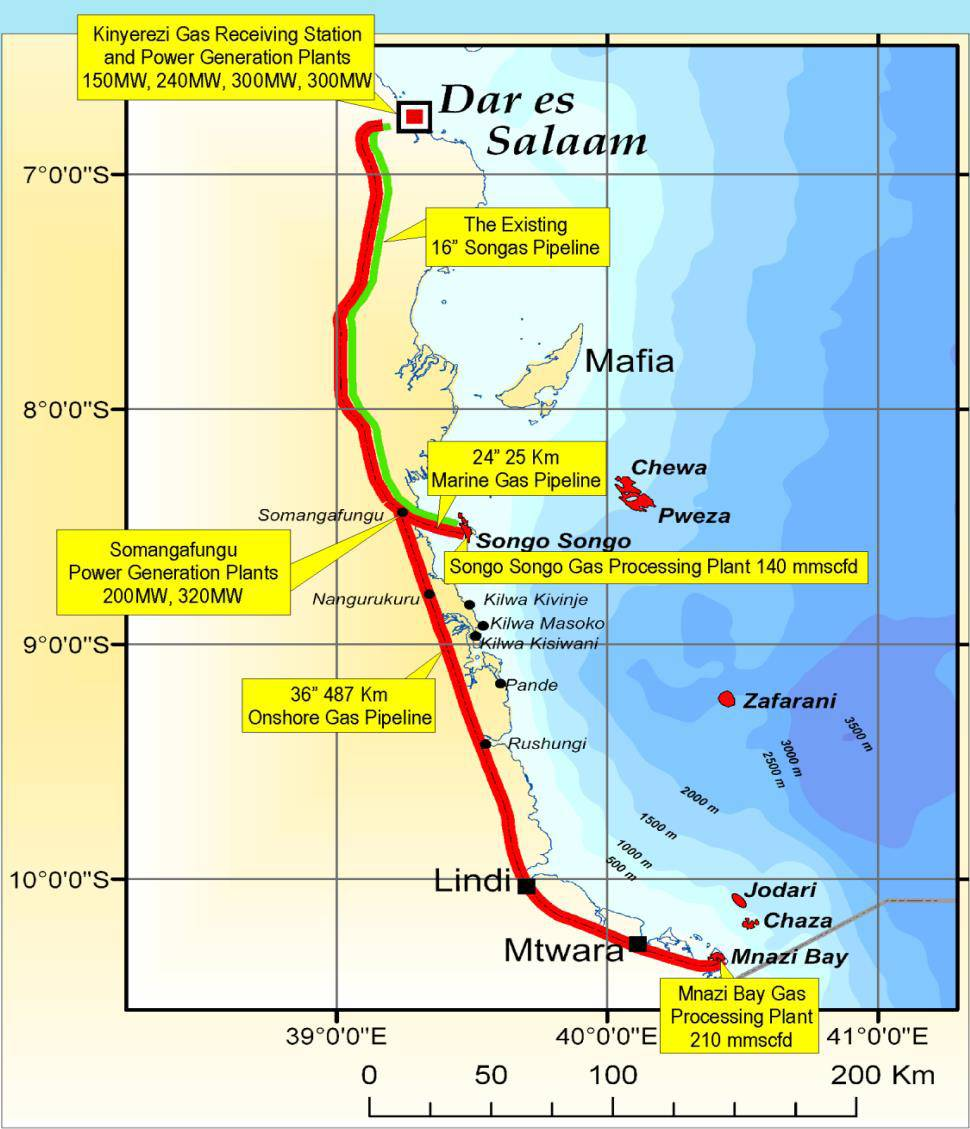 19th april 2017 tanzania mtwara dar es salaam gas pipeline capacity to increase progressively