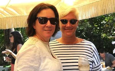 Koren Grieveson with her partner Anne