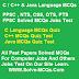 Java And C Programming Languages MCQs Quiz Test