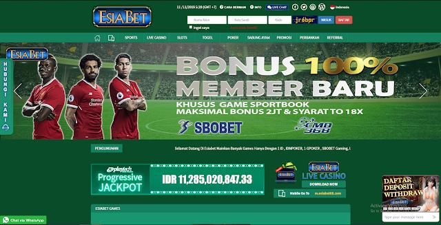 Esiabet Bonus Welcome Sportsbook 100%
