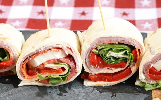 Italian Sandwich Roll-Ups #appetizers #lunch