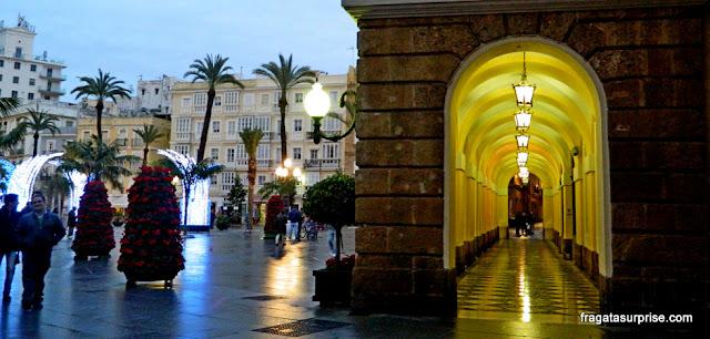 Praça de San Juan de Dios e Ayuntamiento, Cádiz, Andaluzia