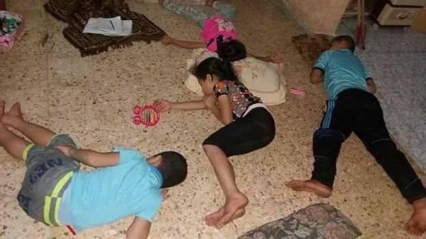 مع انقطاع الكهرباء المتواصل وارتفاع درجة الحرارة هكذا ينام أطفالنا