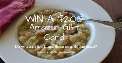 Enter the Lima Bean vs. Butterbean Giveaway for a $200 Amazon GC. Ends 9/28