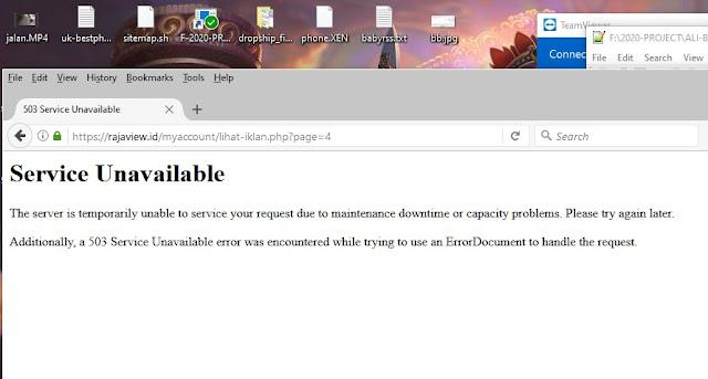 server rajaview down