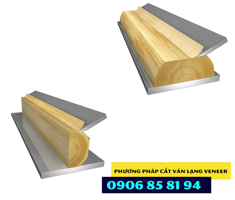 Tấm veneer được lạng từ khối gỗ tròn