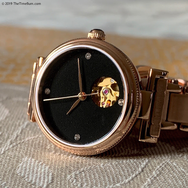 Eliana Timekeeper Twilight Glint black and rose gold