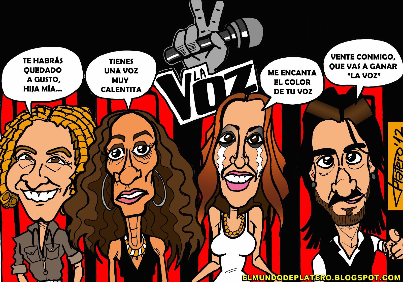 Platero Caricaturas C 243 Mics E Ilustraciones Quot La Voz Quot Caricaturas De Bisbal Rosario Mal 218 Y