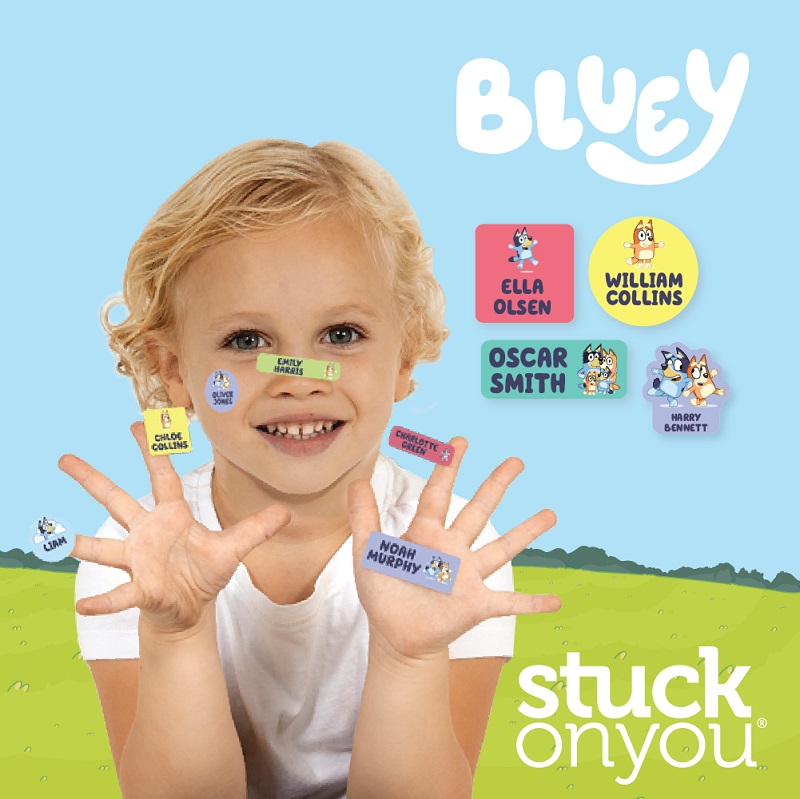 bluey personalised stickers from stuck on you