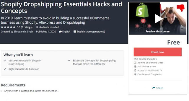 [100% Free] Shopify Dropshipping Essentials Hacks and Concepts