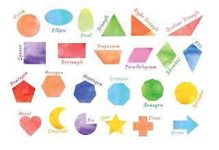 Mama Love Print 自製工作紙  - 認識形狀 Level 1 - 十二個不同的形狀 (中文 / 英文) Learning Shapes Kindergarten Worksheet Printables Freebies