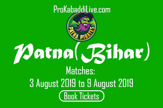 Patna (Patna) Kabaddi Tickets Booking | Pro Kabaddi Patna (Bihar) Tickets Booking