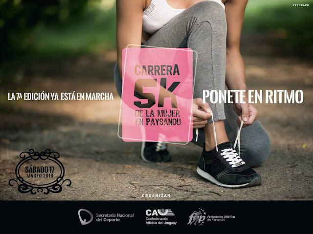 5k Carrera de la mujer en Paysandú (17/mar/2018)