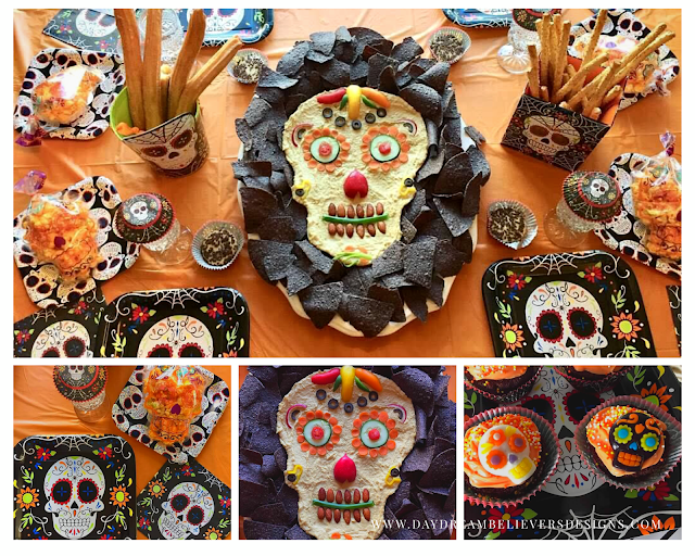 Healthy and Adorable Halloween Lunch Inspiration Sugar Skull Day of the Dead Party