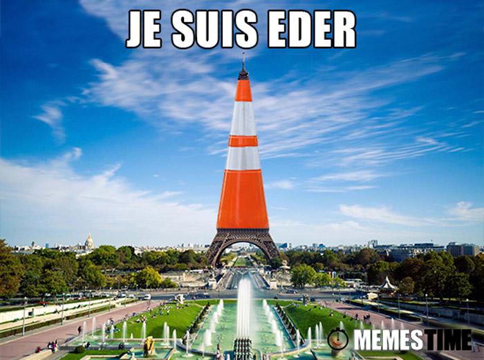 Meme Torre Eiffel com cone – Je Suis Eder