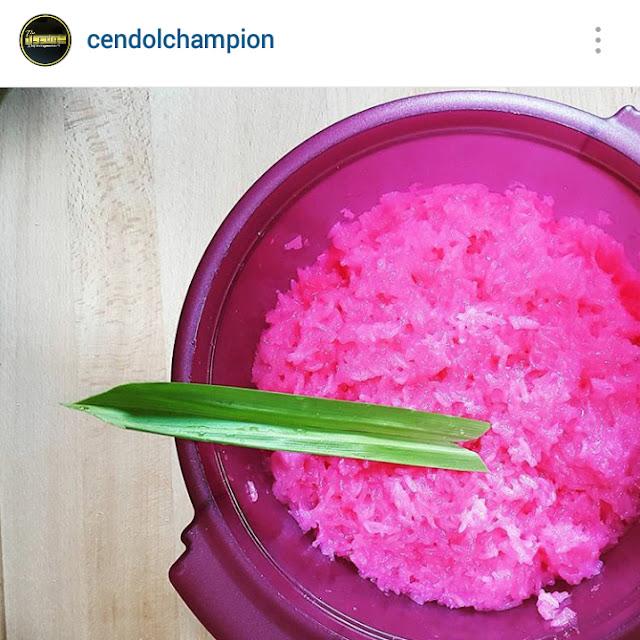 pulut pink The cendol champion wakaf tengah kuala terengganu, cendol menarik di kuala terengganu, makan menarik di kuala terengganu,