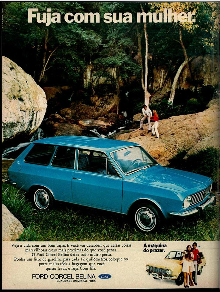 Propaganda antiga da Ford promovendo o Corcel Belina no começo dos anos 70