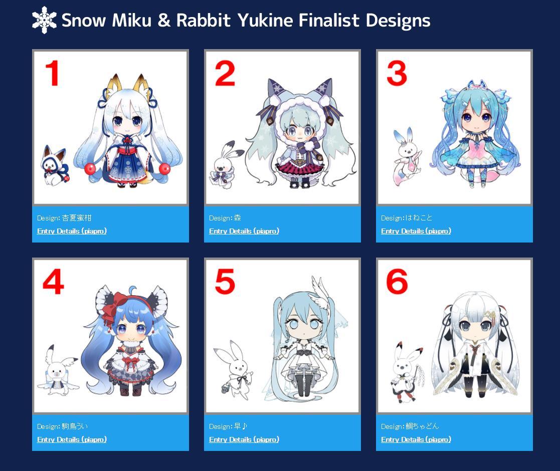 Snow Miku 2018 tem design revelado após concurso